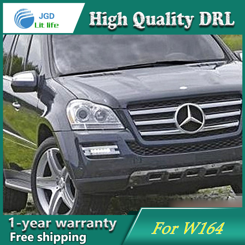 Free shipping ! 12V 6000k LED DRL Daytime running light case for Mercedes W164 GL320 GL350 GL420 GL450 GL550 2006 2007 2008 2009 left and right car rearview mirror light for mercedes benz w164 gl350 gl450 gl550 ml300 ml350 turn signal side mirror led lamp