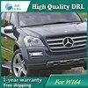 Free Shipping 12V 6000k LED DRL Daytime Running Light Case For Mercedes W164 GL320 GL350 GL420