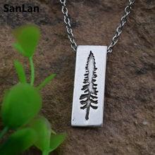 1 шт.,, винтажное ожерелье с Горным баром, сосна, ожерелье, бижутерия из природных материалов, дерево дружбы, подарок для влюбленных
