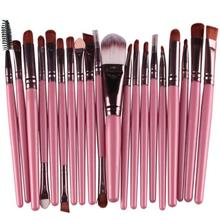 So Hot ! Superior  20 pcs Makeup Brush Set tools Make-up Toiletry Kit Wool Make Up Brush Set June 13