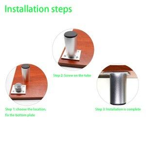 Image 5 - 4Pcs/Set Aluminum Furniture Legs Cabinet Foot DIY Thicken Adjustable 6 30CM TV Cabinet Support Leg bathroom Cabinet Feet
