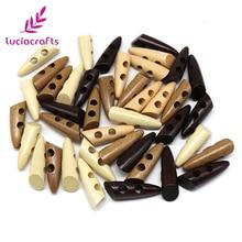 Lucia crafts 6 шт/12 шт 46 мм 2-деревянная кнопка с отверстиями натуральный DIY шитье скрапбукинг одежда аксессуары E0108