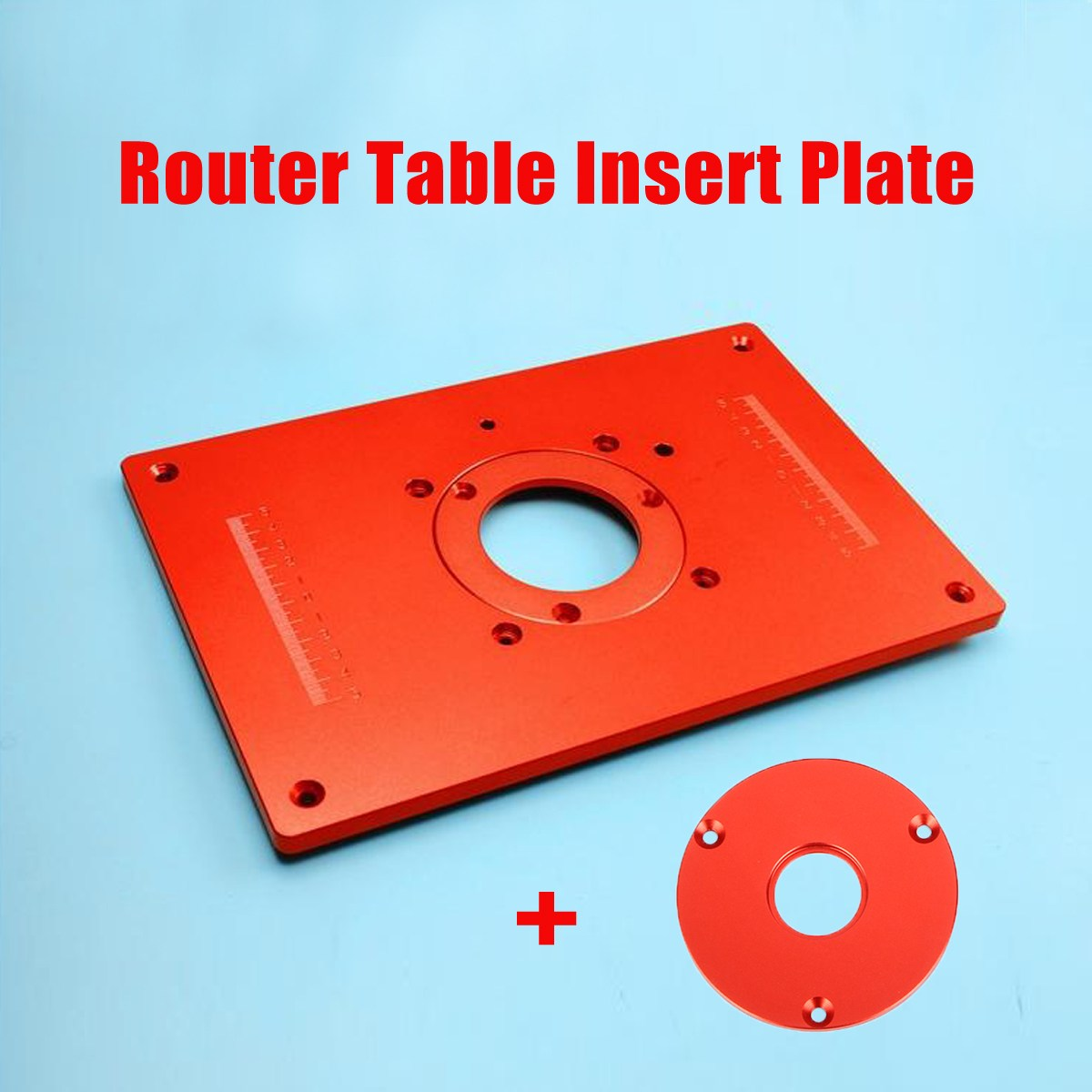 High quality universal router table insert plate aluminium alloy for high quality universal router table insert plate aluminium alloy for diy woodworking engraving machine 200x300x10mm in wood routers from tools on greentooth Gallery