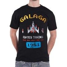Arcade clásicos camiseta Galaga Vintage Retro Gamer hombre negro (2)