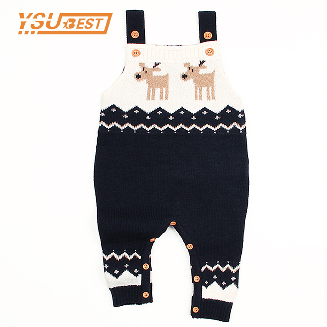4989b7c75 2019 Baby Rompers Deer Boys Girls Jumpsuit Romper Knitted Clothes ...