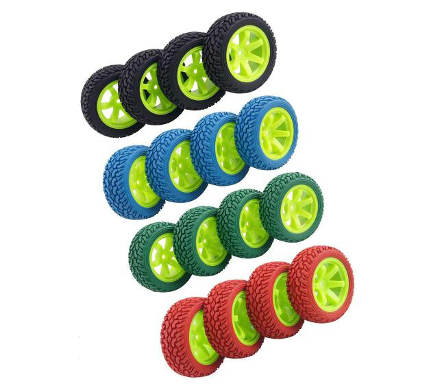 4pcs 1/16 Rally Tire Off-road Buggy wheel for RC Toy car 1/10 on road car pull rally Tyre suitable for HSP 94123 703-8019 75mm 02023 clutch bell double gears 19t 24t for rc hsp 1 10th 4wd on road off road car truck silver