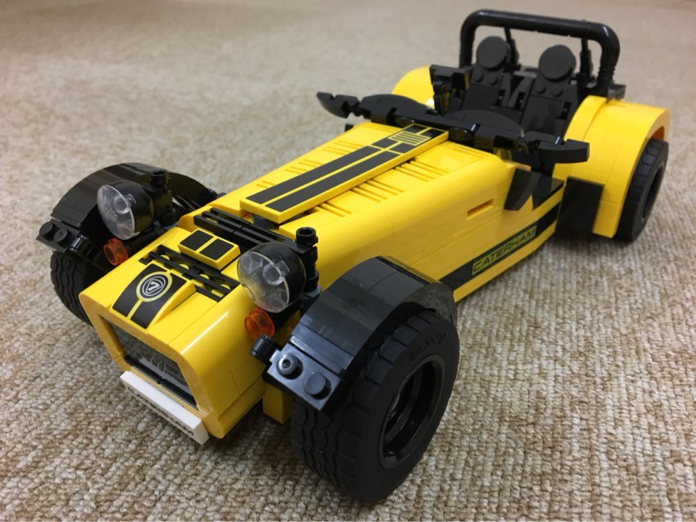 ФОТО NEW  Ideas Series The Caterham Seven 620R Model Building Block classic Compatible bricks 21008 21307 Technic car toy for childre