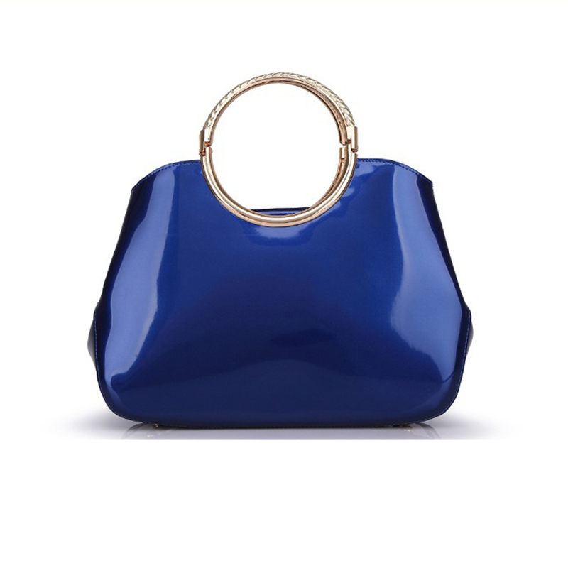 2018 Fashion Women bag PU Patent Leather Handbags Lady Top-handle Bags Classic Female Handbag To Evening Party Zipper Ladies bag цена и фото