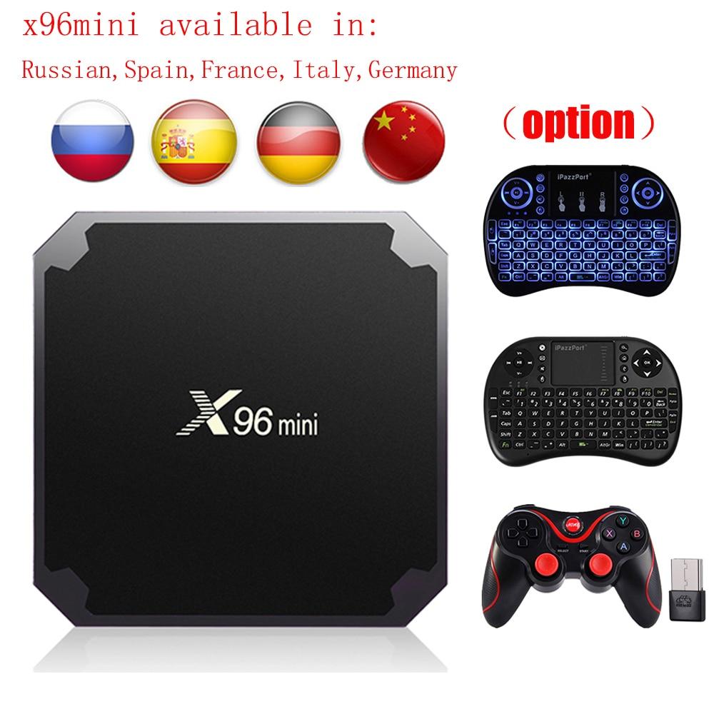 Android 7.1.2 X96 mini TV BOX 2 GB 16 GB 1 GB 8 GB TV Box Amlogic S905W Quad-core-unterstützung 4 Karat 2,4 GHz WiFi X96mini Smart TV Box pk X96