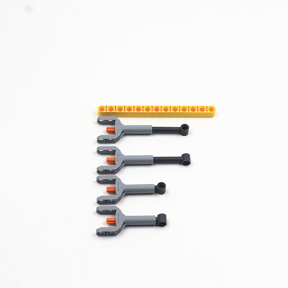 Self-Locking Bricks  Free Creation Of Toys -- MOC Building Blocks Technic 4 Pcs Linear Actuator 7-9 M Compatible With Lego