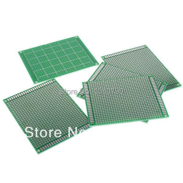 Single Side 5Pcs 7x9 Cm PCB Printed Circuit Board Prototyping  Glass Fiber