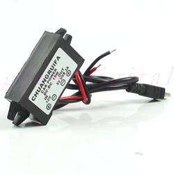 Автомобиль Мощность адаптер DC 12 В до 5 В 3A 15 Вт Водонепроницаемый DC преобразователь Mini USB Прямая поставка n21