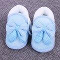 0-1Y Bebé Zapatos de Invierno Los Niños Calientes de La Muchacha Primeros Caminante de Algodón Suave Zapatos de Prewalker