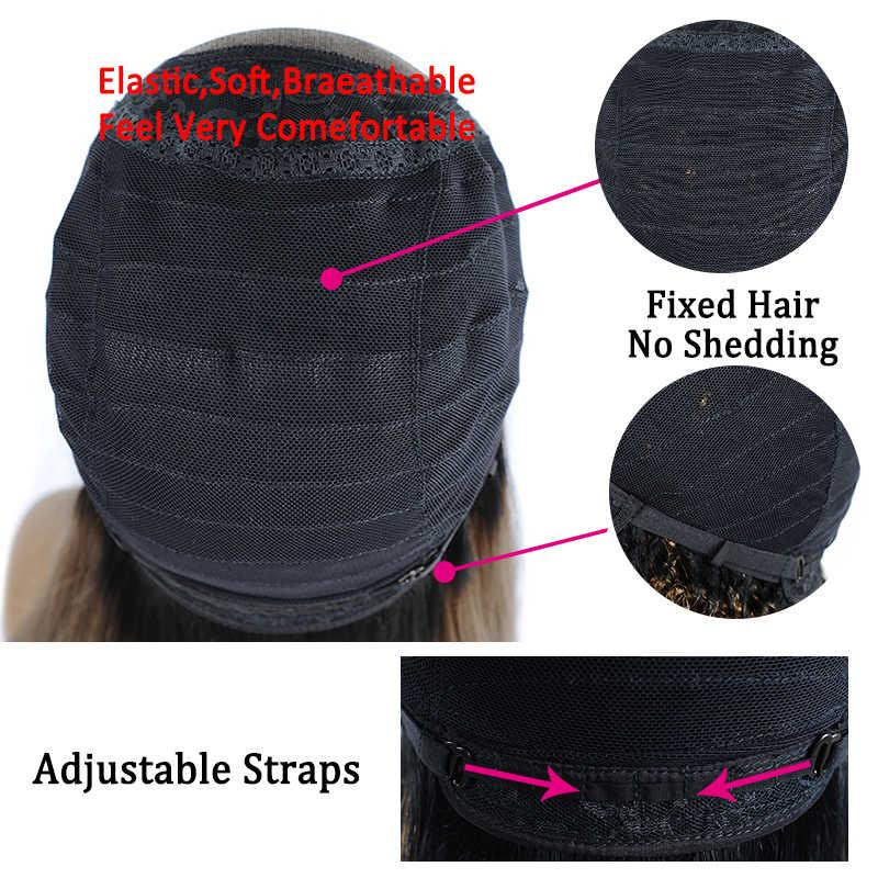 Омбре блонд парик фронта шнурка T1B/27 курчавые вьющиеся человеческие волосы парики предварительно накладка из волос линия бразильский парик с короткими волосами Styleme