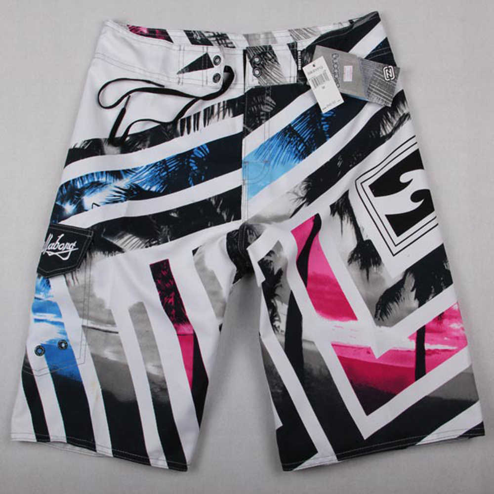 Nieuwe aankomen Heren Shorts Surf Board Shorts Zomer Sport Strand Homme Bermuda Korte Broek Sneldrogende Zilver Boardshorts 2018 Nieuwe