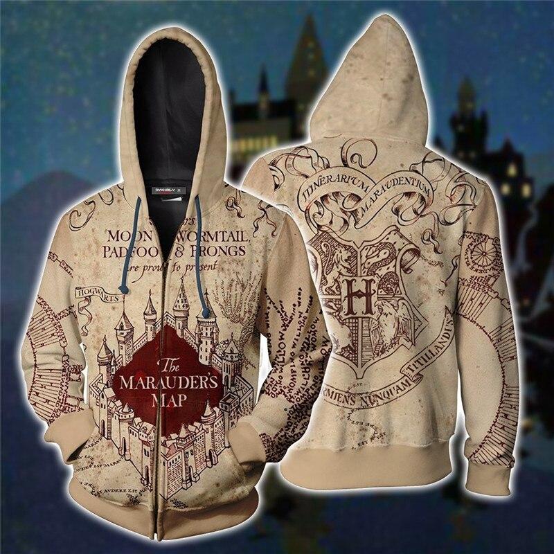 Wizardry 3D Printed Hoodie Unisex Men Hoodies Clothes streetwear Ravenclaw Gryffindor Hufflepuff Slytherin harajuku