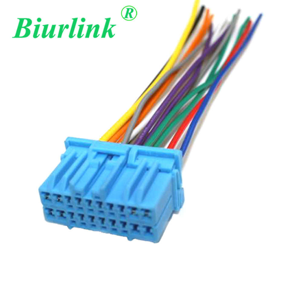 Biurlink In Car Radio Cd Changer Harness Cable Adapter Wire For Audio Wiring Blue Wires Honda Fit Odyssey Buick Excelle Suzuki Cables Adapters Sockets From Automobiles