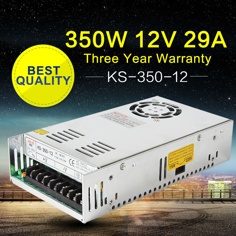 220V AC to 12V DC Switching Power Suppliers 12V 350W  DC Regulated Switching Power Supply for  LED Strip Light Videcam nes series 12v 35w ul certificated switching power supply 85 264v ac to 12v dc