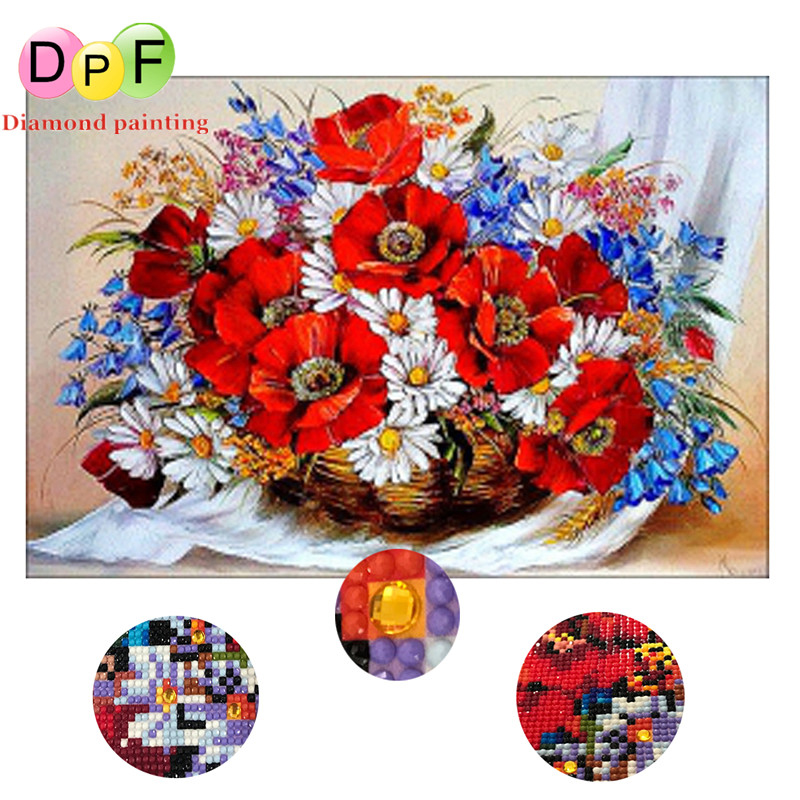 DPF Color Floral Round full Diamond painting Cross Stitch Gift diamond Mosaic Embroidery home decor needlework ctafts