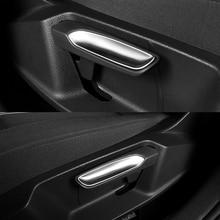 For T-Roc TROC 2017 2018 ABS Matte Seat Adjustment Button Frame Cover Trim car styling accessories Deluxe 6 PCS/ General 2 PCS