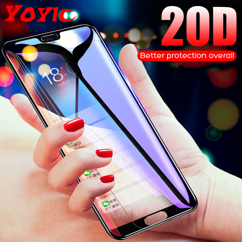 20D Full Cover Tempered Glass For Huawei P10 Lite P20 Pro Glass Screen Protector Protection Film For Honor 9 10 Lite Glass Cover