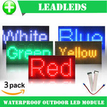 3PCS 32 16 waterproof P10 Outdoor Red Green Yellow Blue Led module for single color P10