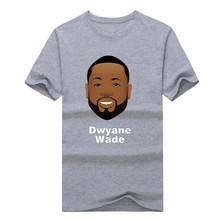 2017 New 100% Cotton DWYANE WADE CHICAGO T-shirt fashion T Shirt for  FANS gift  0306-13