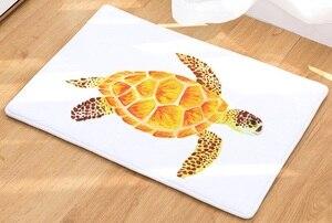 Image 5 - CAMMITEVER alfombra con estampado de tortuga marina, Tapete de bienvenida para el pasillo, alfombras Tapete de baño, cocina, felpudo para el hogar