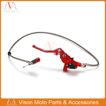 900mm 90CM Red Hydraulic Clutch Lever Master Cylinder For 50-125cc Vertical Engine Offroad Motorcycle Dirt Bike