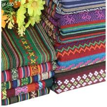 50cm*150cm textile for patchwork sofas materials cloth bag fabric tissu diy ethnic curtain cotton linen fabrics