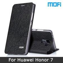 Honor 7 Чехол оригинальный бренд Mofi Huawei Honor 7 Чехол подставка держатель флип кожаный чехол + ТПУ мягкий чехол для Huawei honor7 случае 5.2