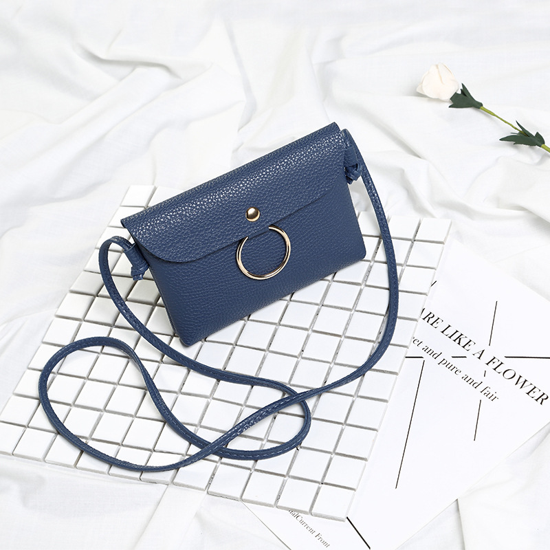 High Quality PU Leather Mini cell Women Crossbody Bags Fashion Color Women Shoulder Bags Color Shoulder Strap Ladies Bag-45