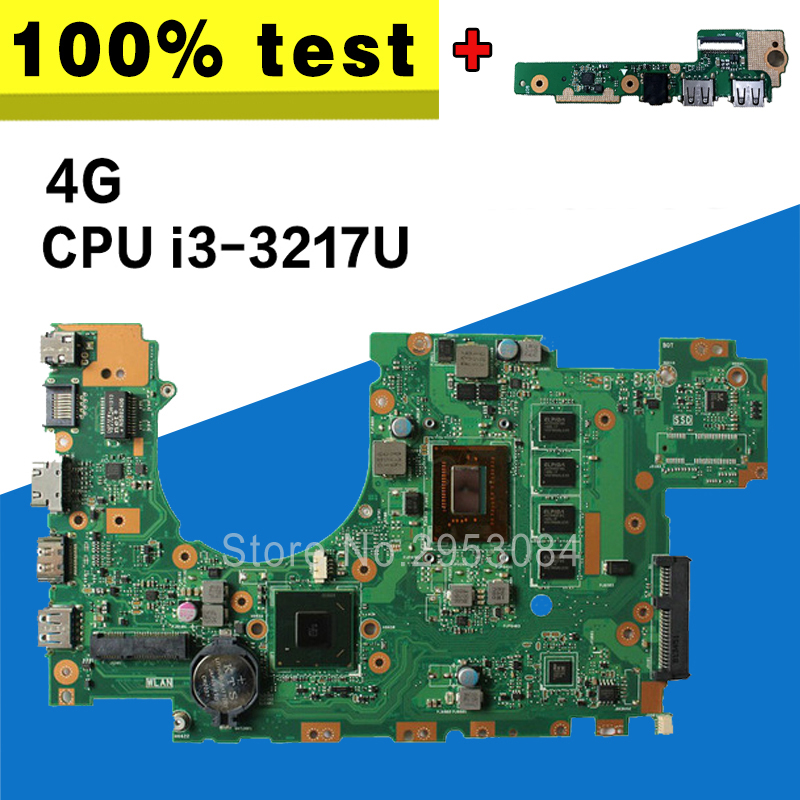 send board+X402CA Motherboard 4G-i3-3217U For ASUS F402C F402CA X402C Laptop motherboard X402CA Mainboard X402CA Motherboard цена