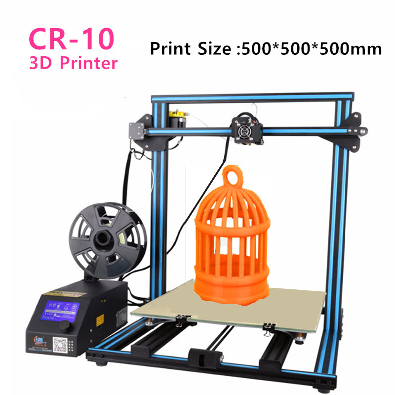 Creality CR-10 3D Printer Print Size 300*300*400/400*400*400/500*500*500mm DIY Desktop 3 D Printer Free Filament Free Shipping