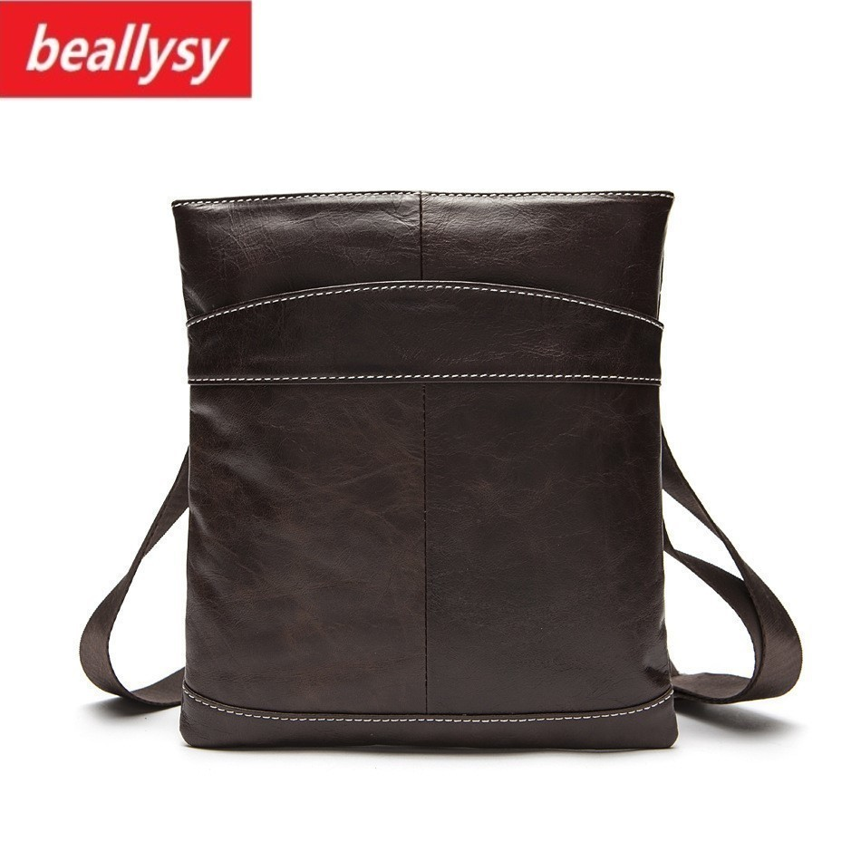 Famous Brand Small Genuine Cowhide Leather Bag Men Bag Male Crossbody Messenger Shoulder Bag Travel Handbags Mens Briefase