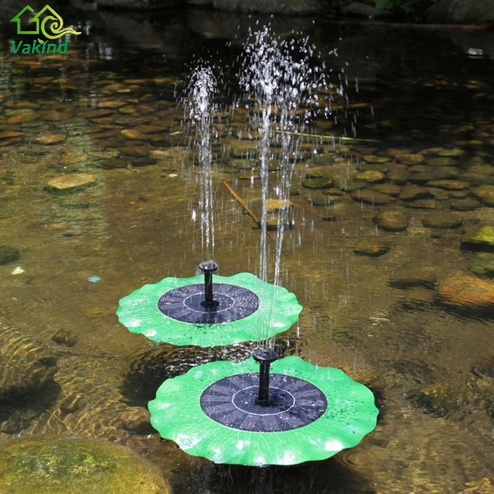 Solar powered water pump panel kit lotus leaf floating for Garden water pump