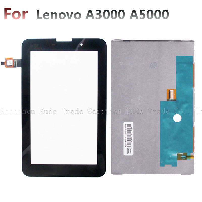 LCD Display + Touch Screen Digitizer Glass Panel For Lenovo IdeaTab A3000 A5000 A3000-H