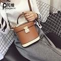 PONGWEE moda mujeres Bolsa de Mensajero de las señoras Del Hobo Bucket Crossbody bolsos Ocasionales Femeninos Bolsas de Hombro a cuadros Bolso de la Botella de Perfume