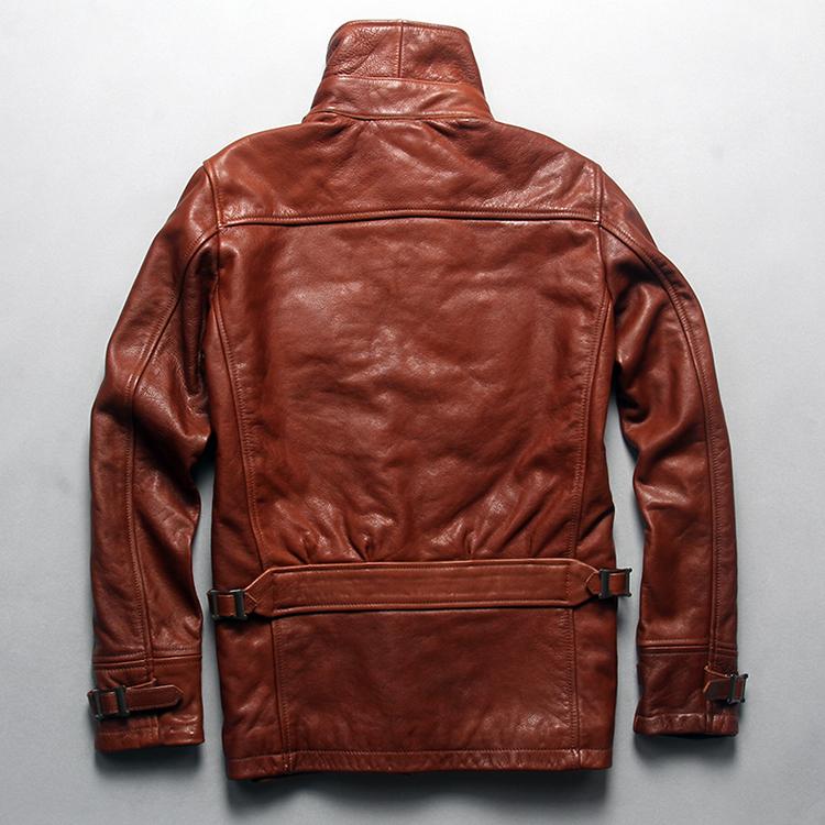 e1d3dc7029336 fashion baseball jacket badge genuine leather jacket men black leather  motorcycle jacket bomber jacket winter leather coat menUSD 298.00 piece