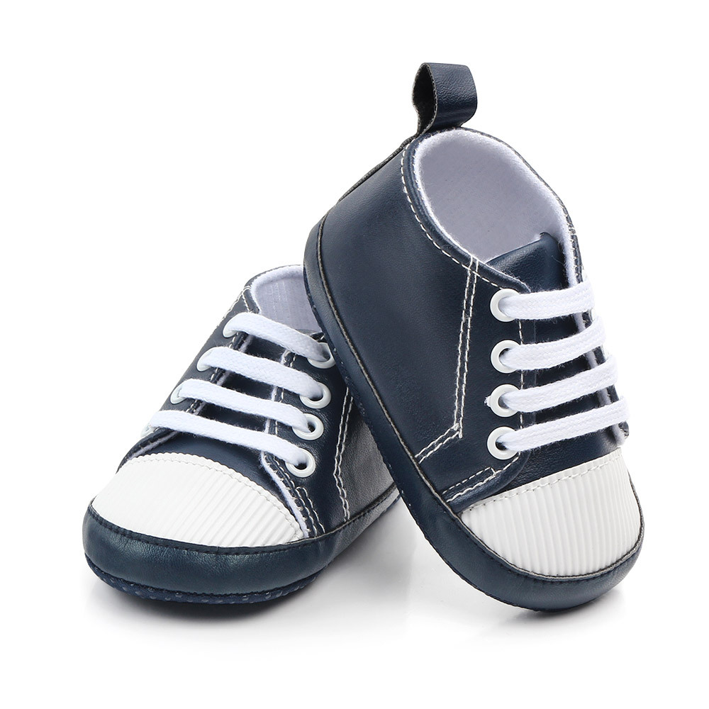 Baby Shoes PU Leather Toddler Shoes Sports Causal Newborn Baby Boys Girls Solid Color Shoes Infant Toddler Soft Anti-slip Shoes