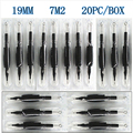 """20 x Disposable Tattoo Grips Tube with Needles Assorted 7M2 Size 3/4"""" (19mm) For Tattoo Gun Needles Ink Cups Grip Kits"""