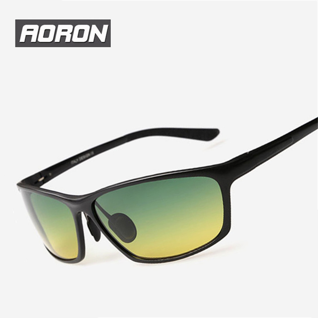 AORON Brand Night Vision Glasses For Man Driving Polarized Sunglasses Yellow lens Reduce Glare Men Sports Sunglass Best Selling
