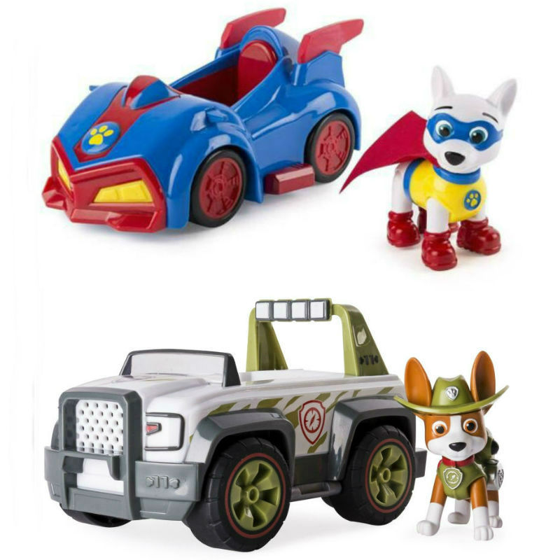 2020 New Original Paw Patrol VEHICLE FIGURE Everest Tracker Robodog Apollo Skye Ryder Chase Marshall Rocky Zuma Rubble Kids Toy