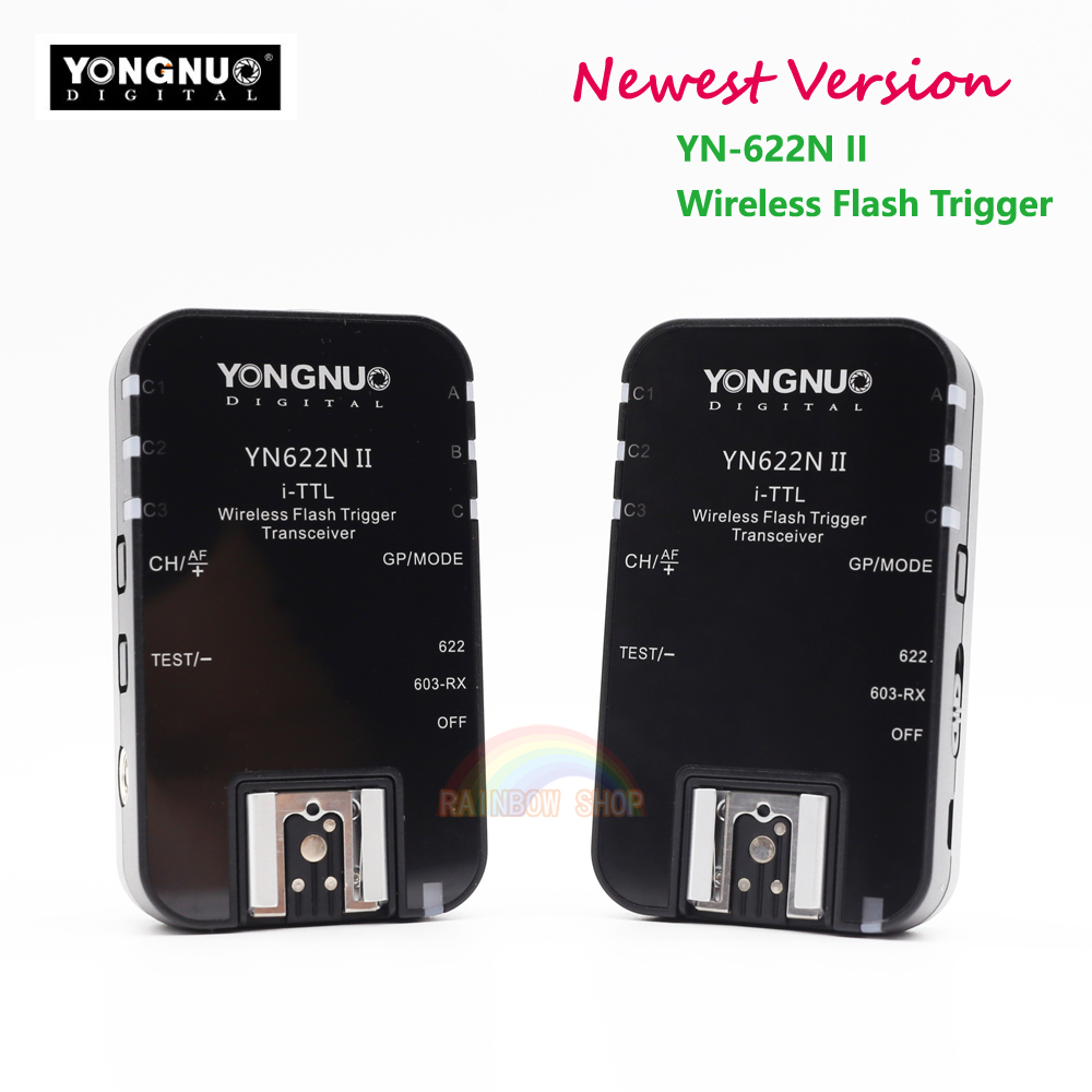 2017 Newest YONGNUO YN-622N II YN622N II TTL Wireless Flash Trigger for Nikon D800 D700 D600 D610 D300 2pcs yongnuo yn622n ii yn622n tx i ttl wireless flash trigger transceiver for nikon camera for yongnuo yn565 yn568 yn685 flash