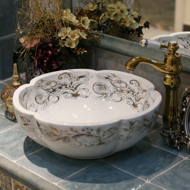 Floral Bathroom Sinks : Flower Vessel Sink-Buy Cheap Flower Vessel Sink lots from China Flower ...