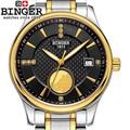 Швейцария Бингер механический мужской роскошный бренд часов Мужские автоматические часы сапфировые наручные часы мужские водонепроницае...