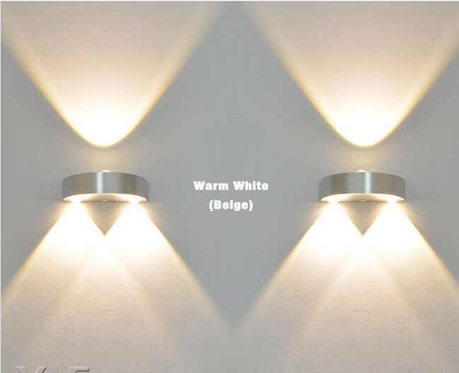 4pcs Indoor 3W LED Wall Lamp double side AC110V 220V bedroom Kitchen Decorate sconce Cold White