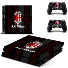 AC Milan Football Team PS4 Skin Sticker Decal Vinyl for Sony Playstation 4 Console and 2 Controllers PS4 Skin Sticker