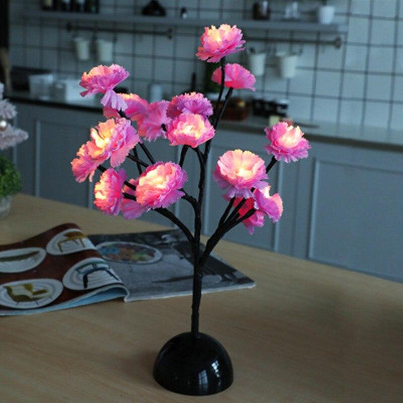 Led Flower Table Lamp Branch Floral Desk Lamp for Indoor ...