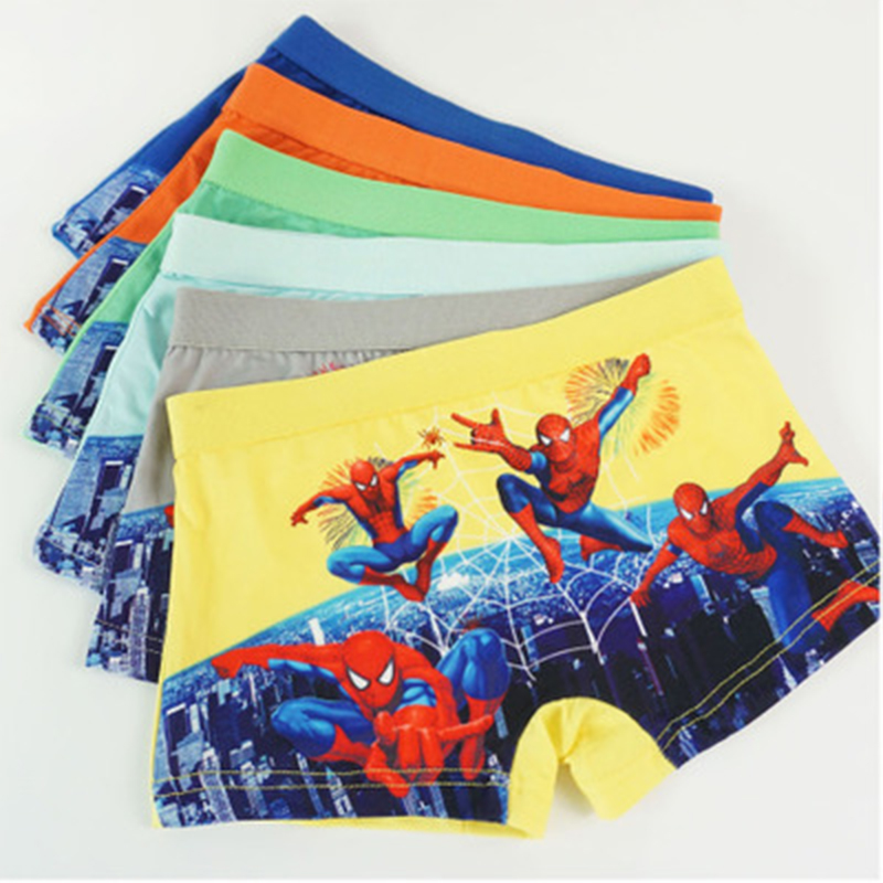 Boys Infant Underwear Comic Boxers Underpants Hero Returned Spiderman Action Figure Kids Panties Briefs Undies 3-8 T